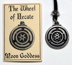 hecate symbols | Details about The WHEEL of HECATE PENDANT AMULET Necklace wicca pewter