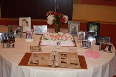 90th Birthday Party - photo table