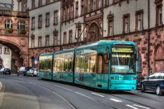 Frankfurt Tram by Miro Susta on Corporate Identity Design, Frankfurt, Rhein Main Gebiet, Rail Europe, Cities In Germany, Continental Europe, S Bahn, Light Rail, Central Station