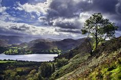 Looking down on Ullswater from Gowbarrow Fell. Lakes, River, Mountains, Nature, Outdoor, Outdoors, Naturaleza, Outdoor Games, Nature Illustration