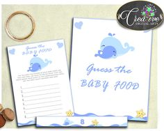 This is Whale Blue GUESS .... Go see it here http://snoopy-online.myshopify.com/products/whale-blue-guess-the-baby-food-baby-shower-boy-game-with-nautical-blue-theme-printable-digital-files-jpg-pdf-instant-download-wbl01
