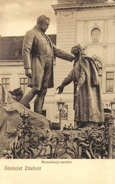 Zilah:Wesselényi szobor,1909-ben. Sculpture Art, Sculptures, Soviet Art, Statue, History, Homeland, Painting, Pictures, Historia