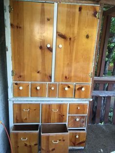 Free!! Large project cabinet. This was a built- in but taken out to put in a fridge (no fridge in the kitchen !!!) it was used for dry storage, or dishes. It's in rough shape but could be very cool if you want to put in the time. Please come pick up (with a truck) in Fernwood.