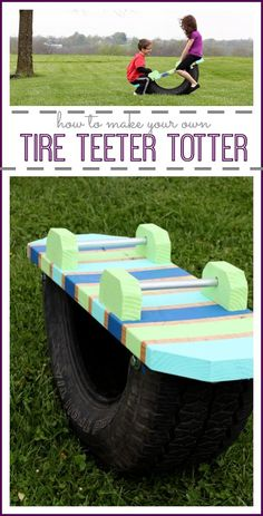 how to make your own Tire Teeter Totter - fun diy project! - Sugar Bee Crafts