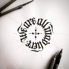 Tolga Girgin is a Turkey-based artist specializing in calligraphy, lettering and drawing. Tattoo Lettering Styles, Tattoo Script, Calligraphy Tattoo, Gothic Lettering, Graffiti Lettering, Tattoo Sketches, Tattoo Drawings, Body Art Tattoos, Sleeve Tattoos