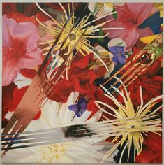 James Rosenquist, born today in was a billboard painter before turning to Pop art. Pop Art Studio, Pop Art Movement, Floral Artwork, Colorful Paintings, Museum Of Modern Art, Dog Art, American Artists, Art Google, Really Cool Stuff