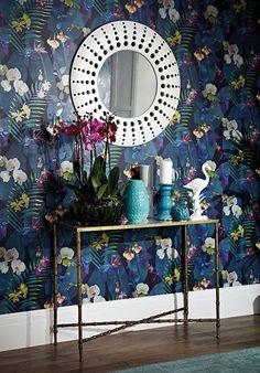 Arthouse Pindorama Wallpaper, Navy, 53 cm x 10.05 m: Amazon.co.uk: Kitchen & Home