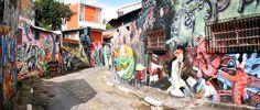 Entre as vielas do bairro da Vila Madalena, entre as ruas Gonçalo Afonso e Medeiros de Albuquerque, fica localizada uma galeria de grafite a céu aberto conhecida como Beco do Batman Foto: Caio Pimenta/SPTuris.