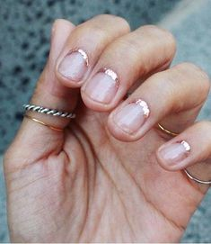Unusual, but I loved it! # nail polish # nail polish # nails # spark # spark Unusual, but I loved it! # nail polish # nail polish # nails 10 stylish female pixie haircuts, short hairstyles for women Reverse French Nails, Cute Nails, Pretty Nails, Hair And Nails, My Nails, Gold Nails, Gold Glitter, Glitter Art, Glitter Nails