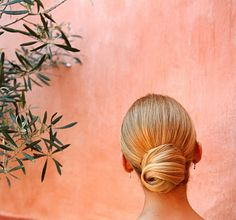 This sleek low bun is perfection.