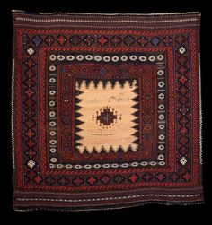 Culture Baluchi people Creation date late 19th century Collection Textiles Materials wool Dimensions 53 x 54 in. | 134.6 x 137.2 cm.