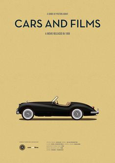 Poster of the car of Cruel Intentions. Illustration Jesús Prudencio. Cars And Films