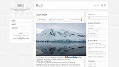 free minimal blogger templates