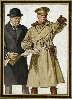 Kuppenheimer 'The Commander' Deluxe Officer's Uniforms by the House of Kuppenheimer    Illustration by JC Leyendecker