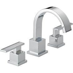 Delta 3553LF Vero Two Handle Widespread Lavatory Faucet, Chrome by Delta, $258 http://www.amazon.com/dp/B0040YQXG2/ref=cm_sw_r_pi_dp_J8g8qb0FS86QB
