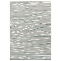 With this LNR Home Grace LR81126 Grey Rug in your room, your interior decor will really shine. Featuring a stripe design, this grey and blue rug brings contemporary style to your home. This rug is made of frise soft olefin yarn for a soft pile.