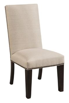 Amish Corbin Parsons Dining Chair Delightful parsons chair. You can customize with lots of fabrics and wood types to pick from. Parsons chairs make it easy to match any dining room table.