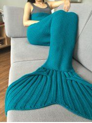 Stylish 2016 Fish Scale Tail Shape Sleeping Bag Mermaid Design Knitting Blanket (LAKE BLUE) | Sammydress.com Mobile