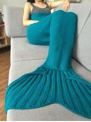Stylish 2016 Fish Scale Tail Shape Sleeping Bag Mermaid Design Knitting Blanket (LAKE BLUE) | Sammydress.com Mobile