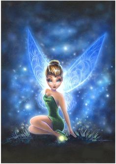 Disney Fairy Tinkerbell sitting among the stars Tinkerbell And Friends, Tinkerbell Disney, Peter Pan And Tinkerbell, Tinkerbell Fairies, Peter Pan Disney, Disney Fairies, Disney Girls, Disney Pixar, Disney Animation