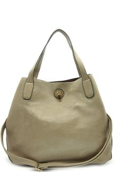 Open top with push lock• Textured faux leather• Inside lining with open/zip pockets• 49 inch handles