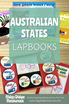 Australian States and Territories Lapbook Activities and Fact Sheets - Ridgy Didge Resources Geography Activities, Geography Lessons, History Education, Teaching History, Australian Curriculum, Interesting Information, Teacher Resources, Flags, Students
