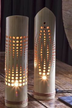 """Bamboe lamp """"pax"""" from our Lighting collectie. For more bamboo products please visite our website. Bamboo Light, Bamboo Lamp, Lampe Crochet, Bamboo House Design, Pvc Pipe Crafts, Lampe Decoration, Bamboo Architecture, Bamboo Crafts, Bamboo Furniture"""