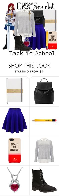 """""""Erza Scarlet"""" by tallybow ❤ liked on Polyvore featuring MANGO, Kate Spade, Studio 8, Wet Seal and Jennifer Fisher"""