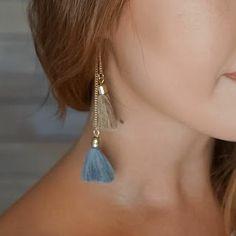 Boho géométriques ronds Long Tassel Dangle Drop Ear Stud Crochet Boucles D/'oreilles Bijoux New
