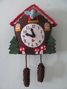 ✄ A Fondness for Felt ✄ DIY craft inspiration - felt cuckoo clock