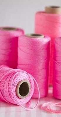Bright Pink Thread #colorsoftheweek