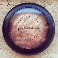 "every girl needs one of these in her makeup kit! mac's mineralize skin finish ""soft and gentle""..it's the best highlighter!"