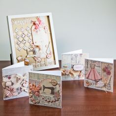 Buy Craftwork Cards Paper Couture Kit from CreateAndCraft. Craftwork Cards, Sewing Cards, Shabby Chic Cards, Card Tags, Craft Work, Vintage Cards, Vintage Sewing, Decorative Boxes, Paper Crafts