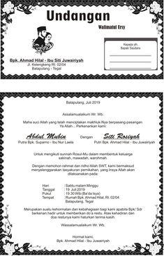 Undangan walimatul ursy siti rosiyah