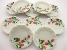 10x30 mm White Round Bowls Dollhouse Miniatures Ceramic Supply Deco 13268