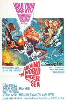 """Pulp film: poster for """"Around The World Under The Sea"""""""