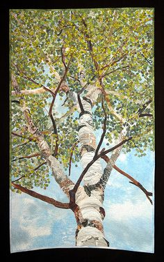 A Year Under the Aspens - 2.  Quilt by David Taylor, 2008. Shared by www.nwquiltingexpo.com @nwquiltingexpo #nwqe #quilting