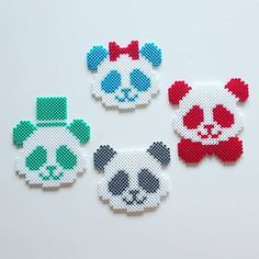 Pandas hama beads by chrisengzell