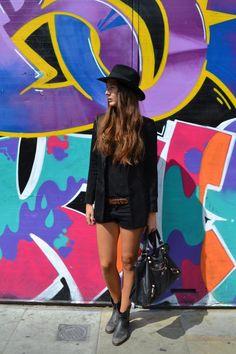 Serendipity2307 Serendipity2307 streetstyle , balenciaga, hat, grafitti, shoreditch, long hair, cowboy boots