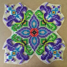 This piece was adapted for Perler beads from an existing c… | Flickr