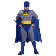 Brave and the Bold Batman Muscle Costume features a Batman jumpsuit with accessories. A headpiece and cape complete our Batman Muscle Costume for boys. Batman Halloween Costume, Batman Costumes, Toddler Halloween Costumes, Boy Costumes, Super Hero Costumes, Halloween Kids, Adult Costumes, Superhero Halloween, Cheap Halloween