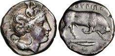 NumisBids: Numismatica Varesi s.a.s. Auction 65, Lot 8 : LUCANIA - THURIUM - (400-350 a.C.) Distatere o Doppio Nomos. D/...