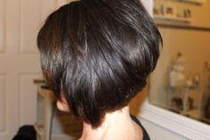 Stacked Bob Haircut Back - Viewing