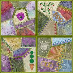 crazy quilting embellishments | new embellished crazy quilt blocks molly mine crazy quilt squares