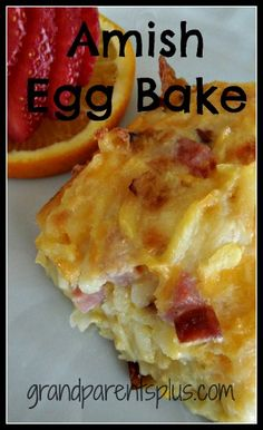 Amish Egg Bake is a  great no-bread egg casserole for any holiday brunch! Kids like it, too! Not only is it good, but easy to put together the night before and bake in the morning.