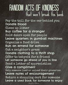 Random Acts Of Kindness on Pinterest