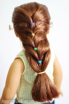 Doll Hairstyle: Rainbow French Ponytail! | AmericanGirlFan | Bloglovin'