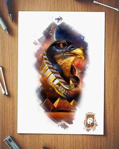 Egyptian Tattoo Sleeve, Egypt Tattoo, Cat Tattoo Designs, Tattoo Sleeve Designs, Dragon Head Tattoo, Horus Tattoo, Live Tattoo, Cobra Art, Egypt Art