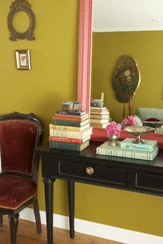 """""""Dragonwell"""" Green Living Room - eclectic - living room - san francisco - Story & Space - Interior Design and Color Guidance"""