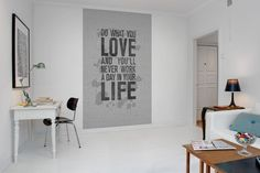 Wanddeco quote Wall mural R12402 Quotes, concrete http://www.living-shop.nl